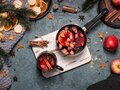 Winter Christmas composition with a mulled wine Royalty Free Stock Photo