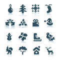 Winter and  Christmas icons Royalty Free Stock Images
