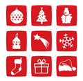 Winter and Christmas icons Stock Image