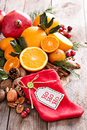 Winter and christmas ingredients still life Royalty Free Stock Photo