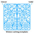 Winter Christmas invitation or greeting card with abstract snowflakes ornament. Royalty Free Stock Photo
