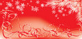 Winter, Christmas red background with snowflakes, vector Stock Photography