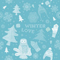 Winter Christmas seamless pattern Royalty Free Stock Image