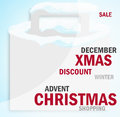 Winter christmas shopping bag creative design Royalty Free Stock Images