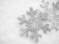 Winter Christmas Snow Flake Background Stock Photography