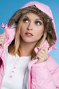 Winter Coat Girl Stock Photo