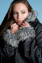 Winter Coat Woman Royalty Free Stock Photography