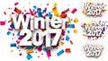 Winter 2017 color backgrounds set.