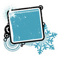 Winter concept frame Royalty Free Stock Image