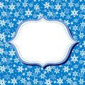 Winter congratulations background with fir snowflakes Royalty Free Stock Photo