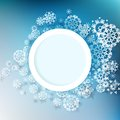 Winter design with snowflakes eps abstract and space for text Royalty Free Stock Photos