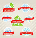 Winter discount labels Stock Image
