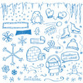 Winter Doodles Stock Photos