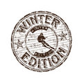 Winter edition stamp Stock Images