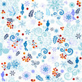 Winter effortless pattern Royalty Free Stock Photo