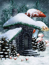 Winter fairy cottage