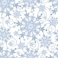 Winter festive seamless pattern with snowflakes Royalty Free Stock Photo