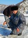 Winter Fishing  5 Stock Photography