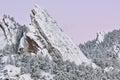 Winter, Flatirons at Dawn Royalty Free Stock Photo