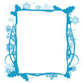 Winter floral frame vector this is file of eps format Stock Photos