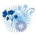 Winter Flower Motif Royalty Free Stock Images
