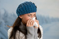 Winter flu and fever Royalty Free Stock Photo