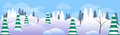 Winter Forest Landscape Christmas Background, Pine Snow Trees Woods Royalty Free Stock Photo