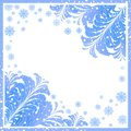 winter frame with ice patterns