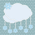 Winter frame with snowflakes Royalty Free Stock Images