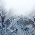 Winter frost on the window as background Royalty Free Stock Photo