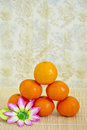 Winter fruits: piled clementines Royalty Free Stock Photography
