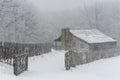 Winter, Gibbons farm, Hensley Settlement Royalty Free Stock Photo