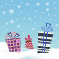 Winter gift Stock Image