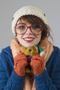 Winter girl portrait Stock Photography
