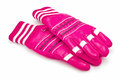 Winter gloves pink on white Royalty Free Stock Photos