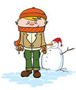 Winter guy Royalty Free Stock Images