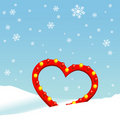 Winter heart Royalty Free Stock Photo