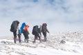 Winter hiking Royalty Free Stock Photo