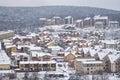 Winter hillside neighborhood in the balkans urban detail Royalty Free Stock Photography