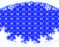 Winter holiday background blue with texture drifts and snowflakes Stock Photos