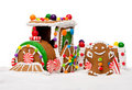 Winter Holiday Gingerbread Polar Express Train Royalty Free Stock Photo