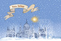 Winter holiday snow background. Merry Christmas greeting card. S