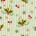 Winter holidays seamless pattern Royalty Free Stock Photo