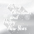 Winter Holidays Snowy White Card