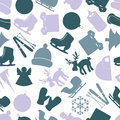 Winter icons color pattern colorful eps Royalty Free Stock Image