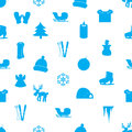 Winter icons pattern eps seamless Stock Photography