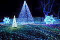 Winter Illumination with blue LED lights Japan Royalty Free Stock Photo