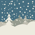 Winter illustration card Royalty Free Stock Photo