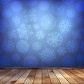 Winter interior walls decorated snowflakes eps this is editable vector illustration Royalty Free Stock Photos