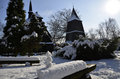 Winter in the kosciuszko park katowice a small wooden church church of st michael archangel time poland Royalty Free Stock Photography